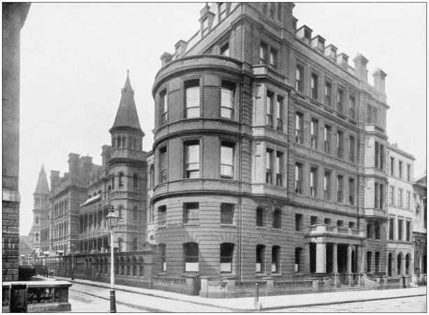 Antique photograph of London: Great Ormond Street stock photo