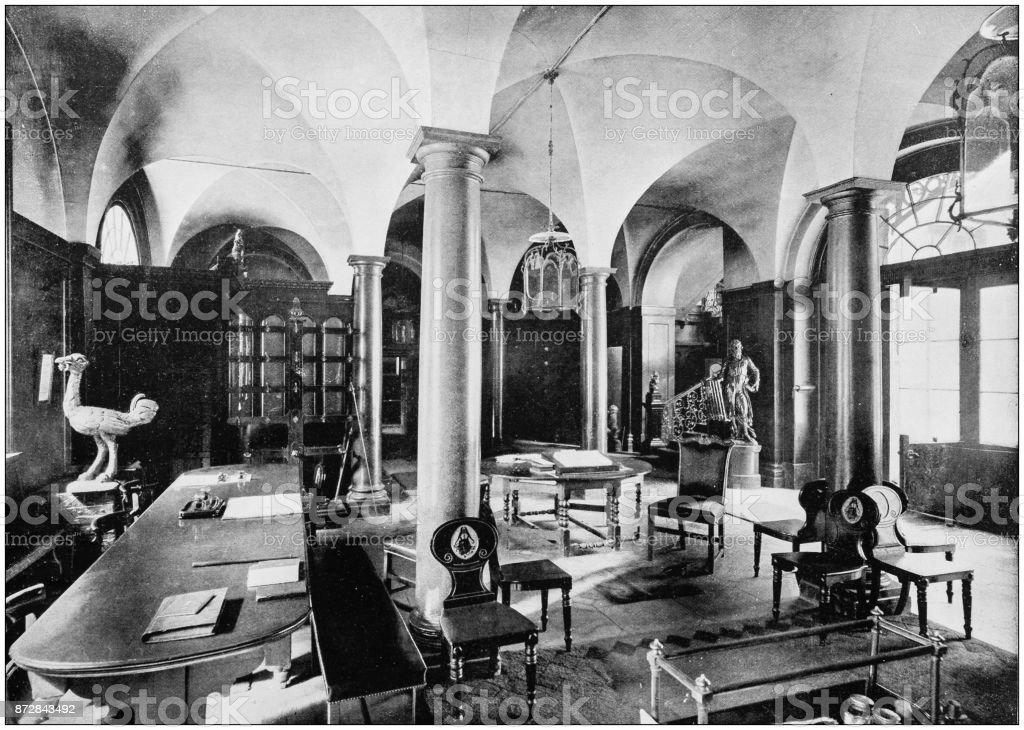 Antique photograph of London: Ironmongers Hall stock photo