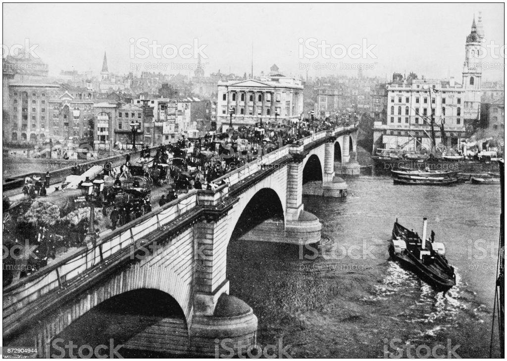Antique Photograph Of London London Bridge Stock Photo Download Image Now Istock