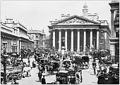 Antique photograph of London: The royal exchange