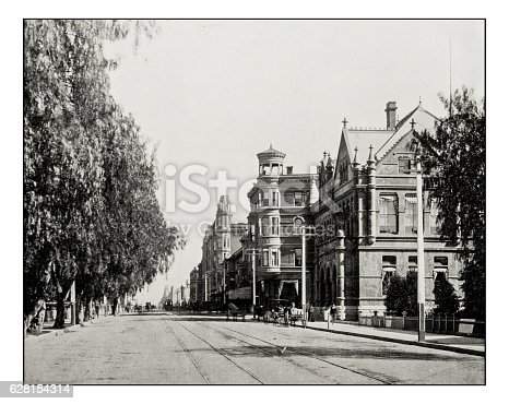 Antique photograph of Main Street, Los Angeles