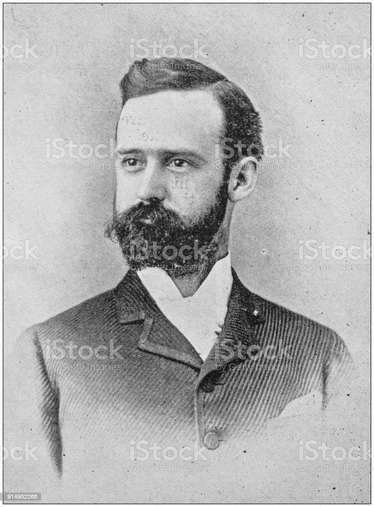 Antique photograph of man stock photo