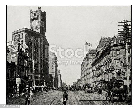 Antique photograph of Market Street, San Francisco