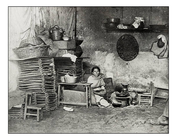 Antique photograph of Mexican Kitchen in Orizaba Antique photograph of Mexican Kitchen in Orizaba orizaba stock pictures, royalty-free photos & images
