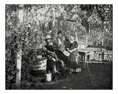 Antique photograph of Mexicans in Southern California