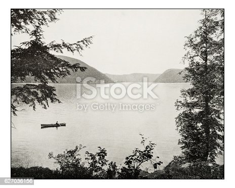 Antique photograph of Peekskill Bay on Hudson River
