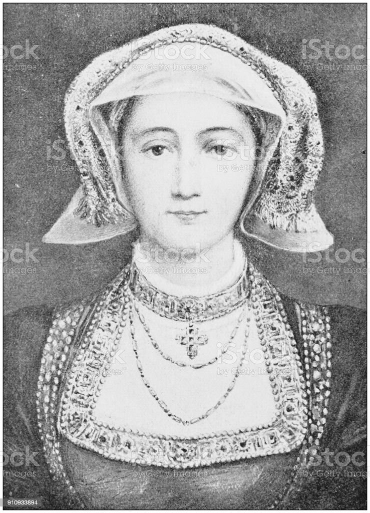 Antique photograph of people from the World: Anne of Cleves, Queen of King Henry VIII stock photo