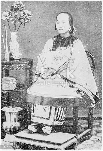 Antique photograph of people from the World: Chinese Girl