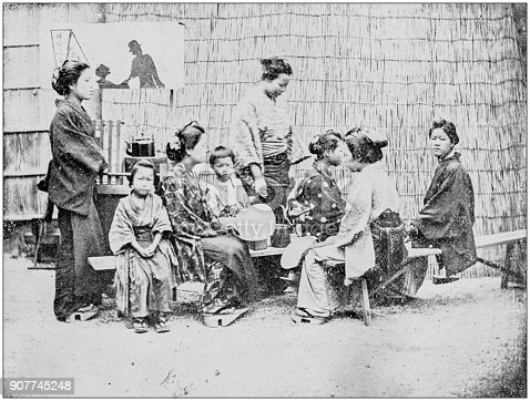 Antique photograph of people from the World: Chinese people