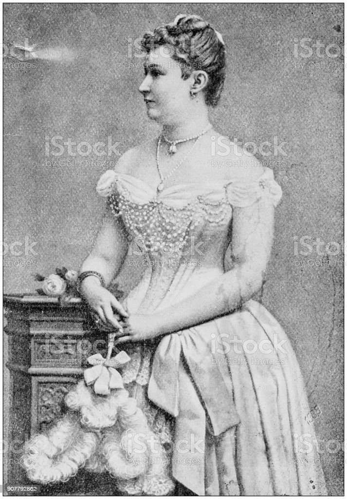 Antique photograph of people from the World: Empress of Germany stock photo