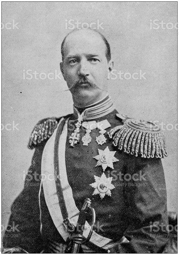 Antique photograph of people from the World: King Georgios I, Greece stock photo