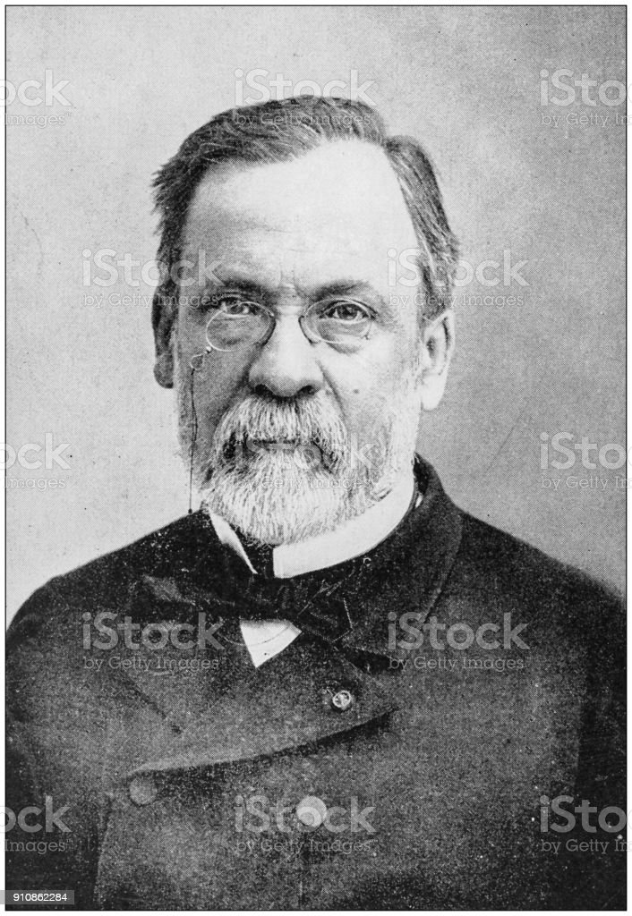 Antique photograph of people from the World: Louis Pasteur stock photo