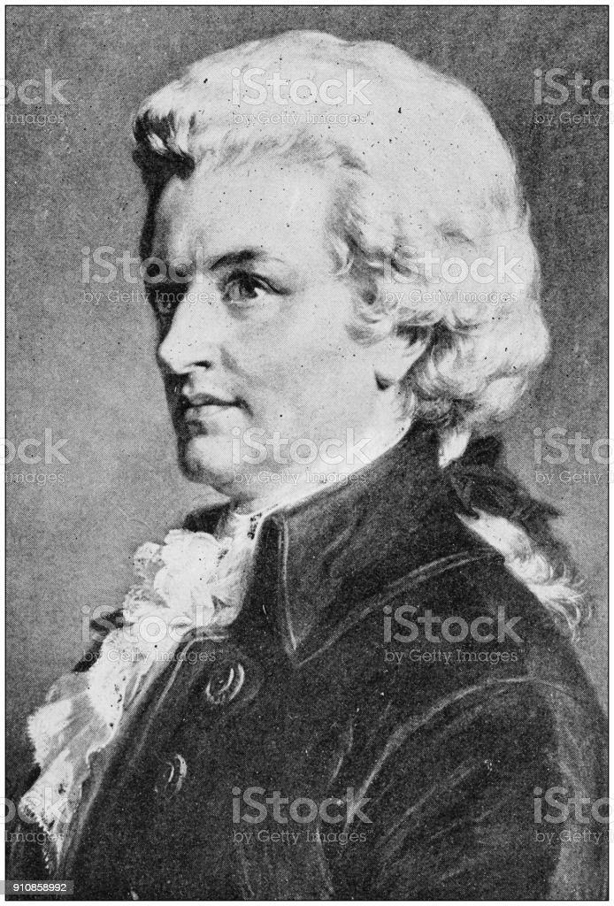 Antique photograph of people from the World: Mozart stock photo