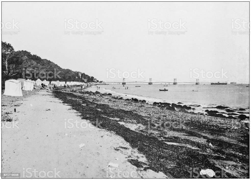 Antique photograph of seaside towns of Great Britain and Ireland: Isle of Wight stock photo