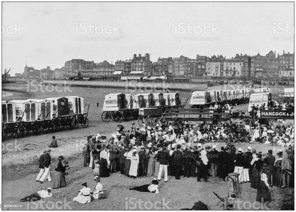 Antique photograph of seaside towns of Great Britain and Ireland: Margate stock photo