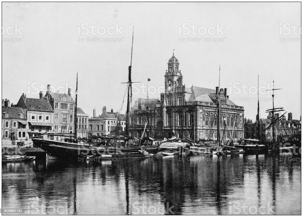 Antique photograph of seaside towns of Great Britain and Ireland: Great Yarmouth stock photo