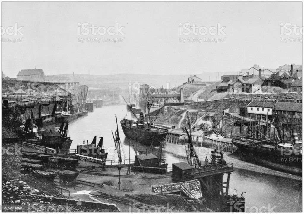 Antique photograph of seaside towns of Great Britain and Ireland: Sunderland stock photo