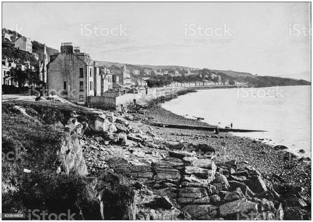 Antique photograph of seaside towns of Great Britain and Ireland: Ashton stock photo