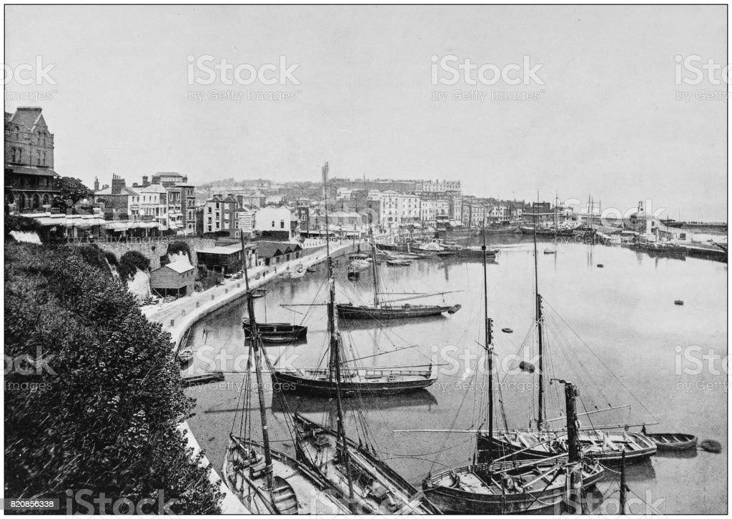 Antique photograph of seaside towns of Great Britain and Ireland: Ramsgate stock photo
