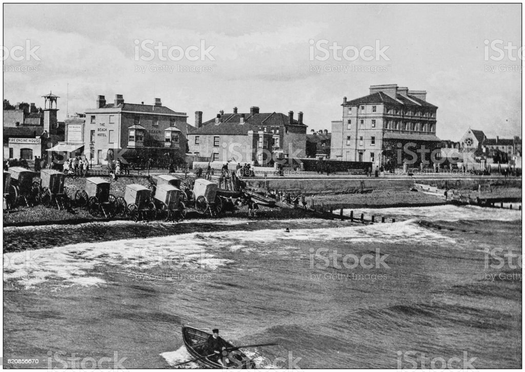 Antique photograph of seaside towns of Great Britain and Ireland: Bognor – zdjęcie