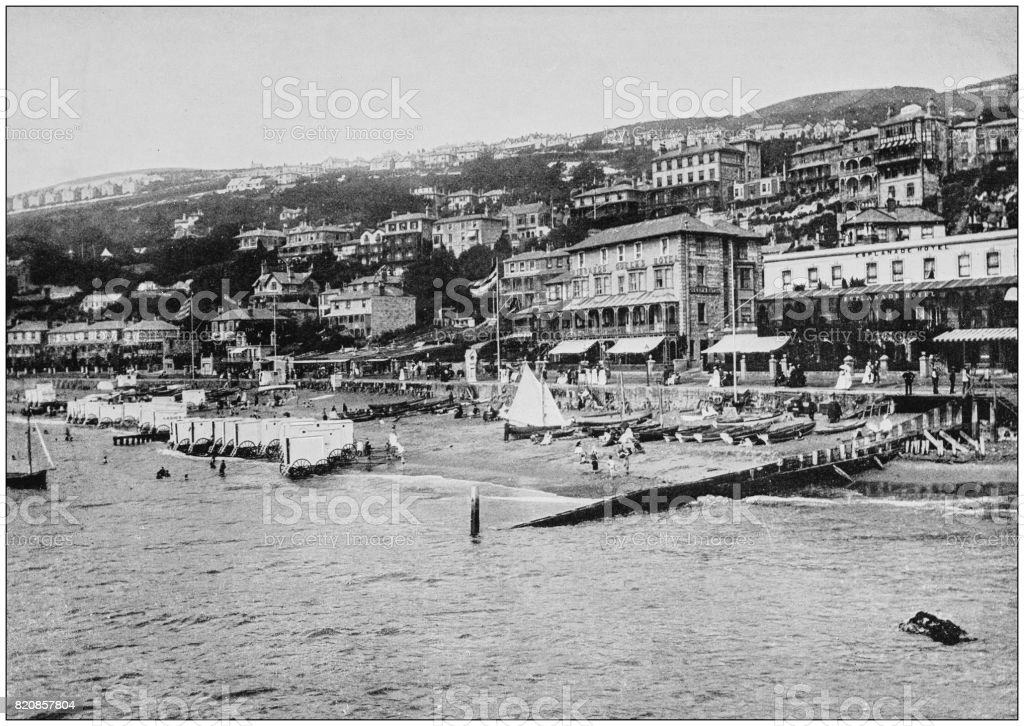 Antique photograph of seaside towns of Great Britain and Ireland: Ventnor stock photo