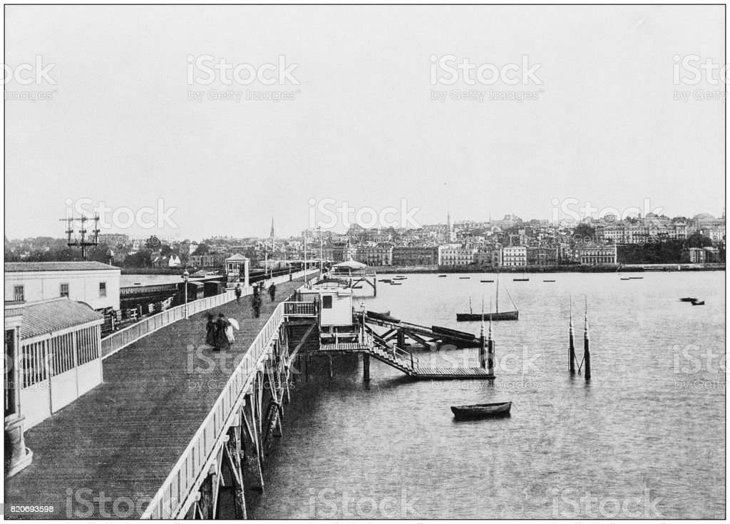 Antique photograph of seaside towns of Great Britain and Ireland: Ryde stock photo