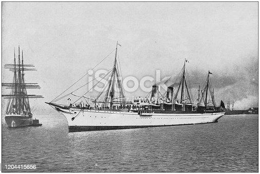 Antique photograph of the British Empire: