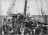 Antique photograph of the British Empire: Leaving for South Africa