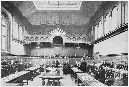 Antique photograph of the British Empire: Meeting of the Tynwald Court, Isle of Man