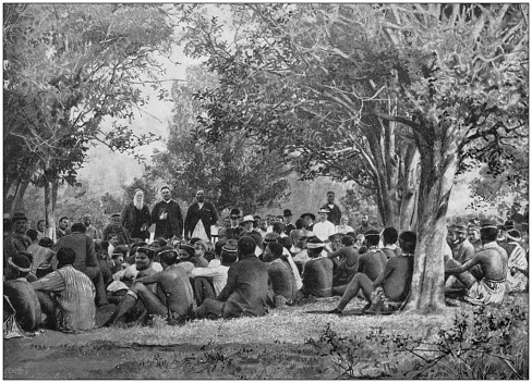 Antique photograph of the British Empire: Mission work in Natal