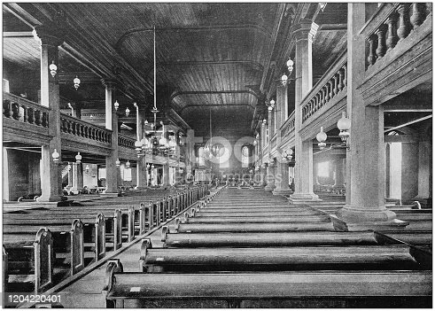Antique photograph of the British Empire: St John's Cathedral, Antigua
