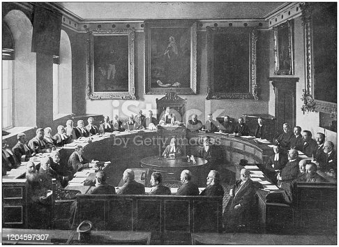 Antique photograph of the British Empire: States of Guernsey in session