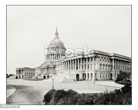 Antique photograph of The Capitol, Washington