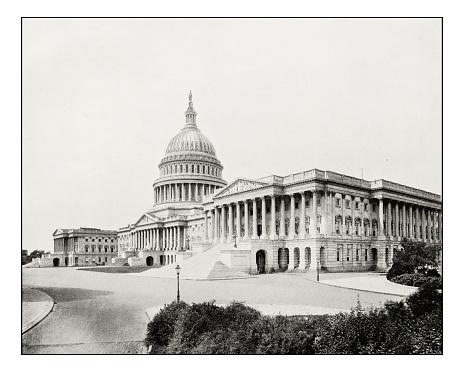 Antique photograph of The Capitol, Washington
