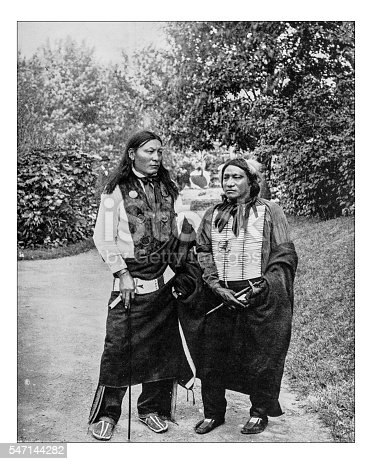 Antique photograph of two Sioux Indian Chiefs: