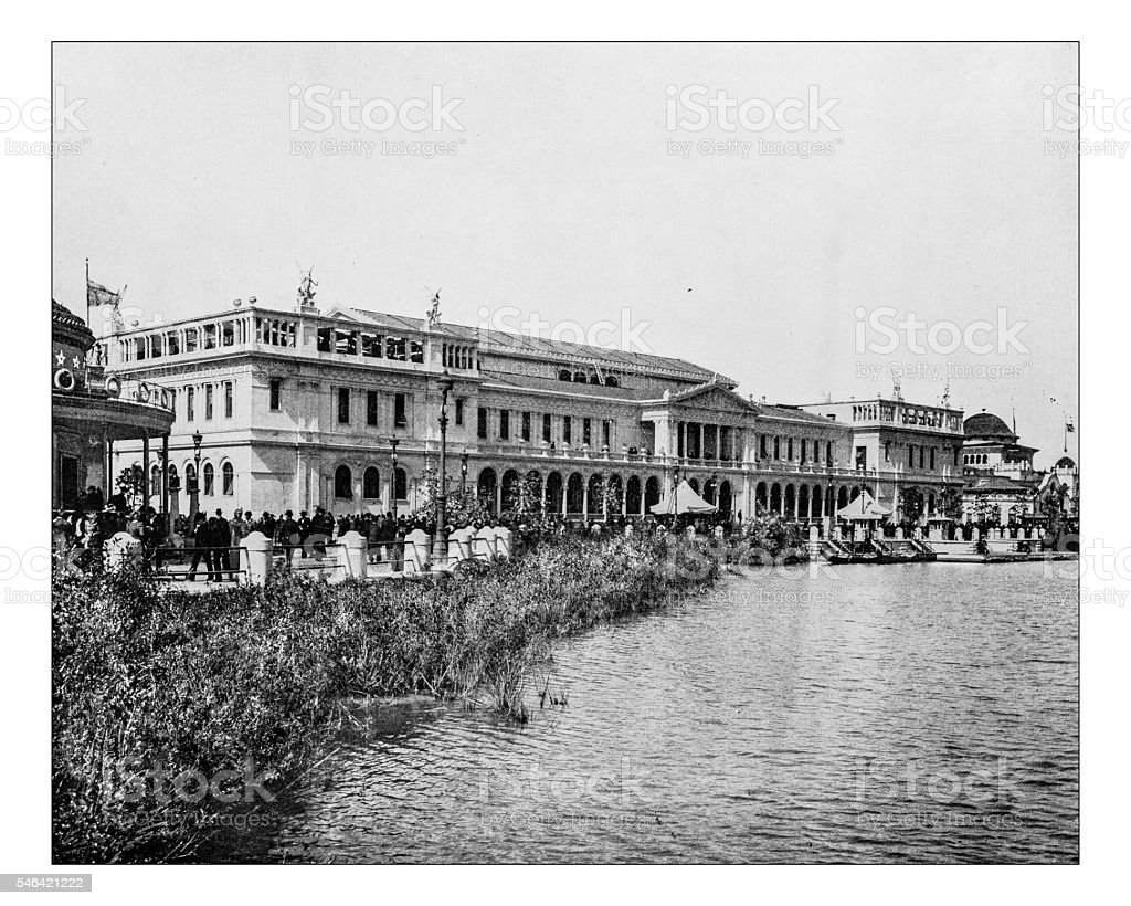 Antique photograph of Woman's building (World's Columbian Exposition, Chicago, USA)-1893 - Photo