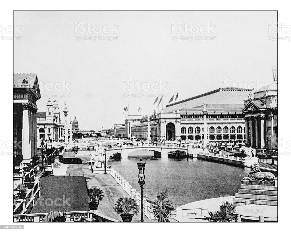 Antique photograph of World's Columbian Exposition (Chicago,USA)-1893 - Photo