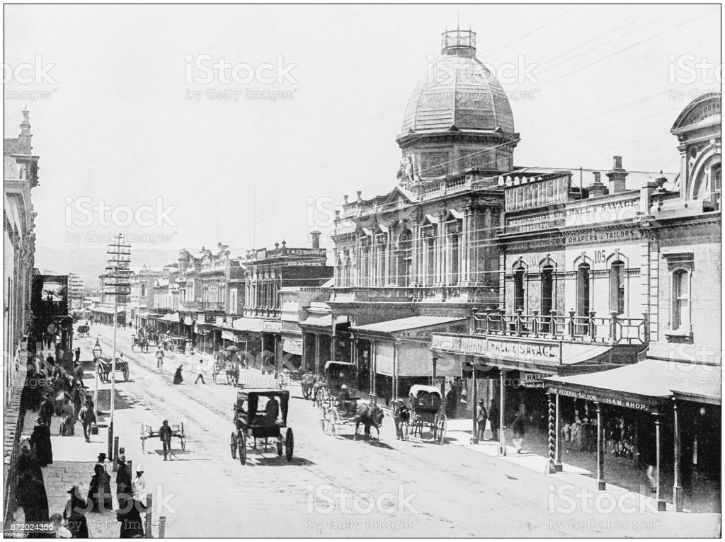 Antique photograph of World's famous sites: Adelaide stock photo