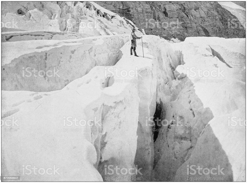 Antique photograph of World's famous sites: Asulkan Glacier, Hermit range stock photo