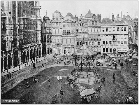 Antique photograph of World's famous sites: Brussels