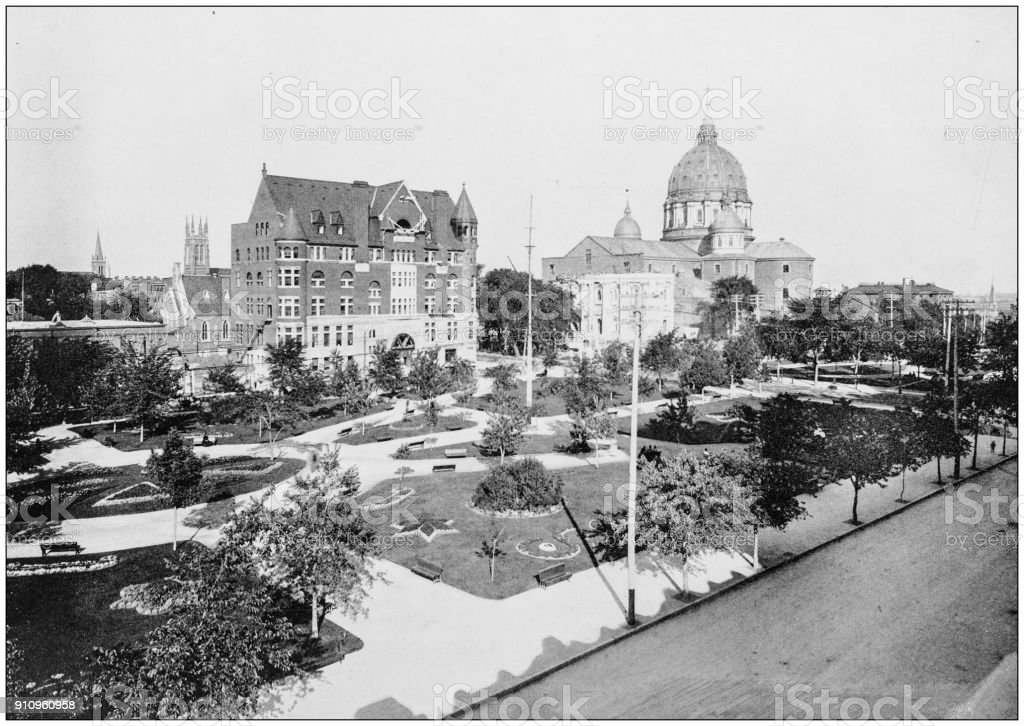 Antique photograph of World's Famous Sites: Buildings in Montreal