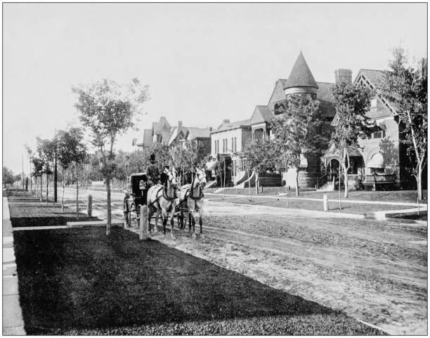 Antique photo des sites célèbres du monde: Denver, Colorado, Sherman Avenue - Photo