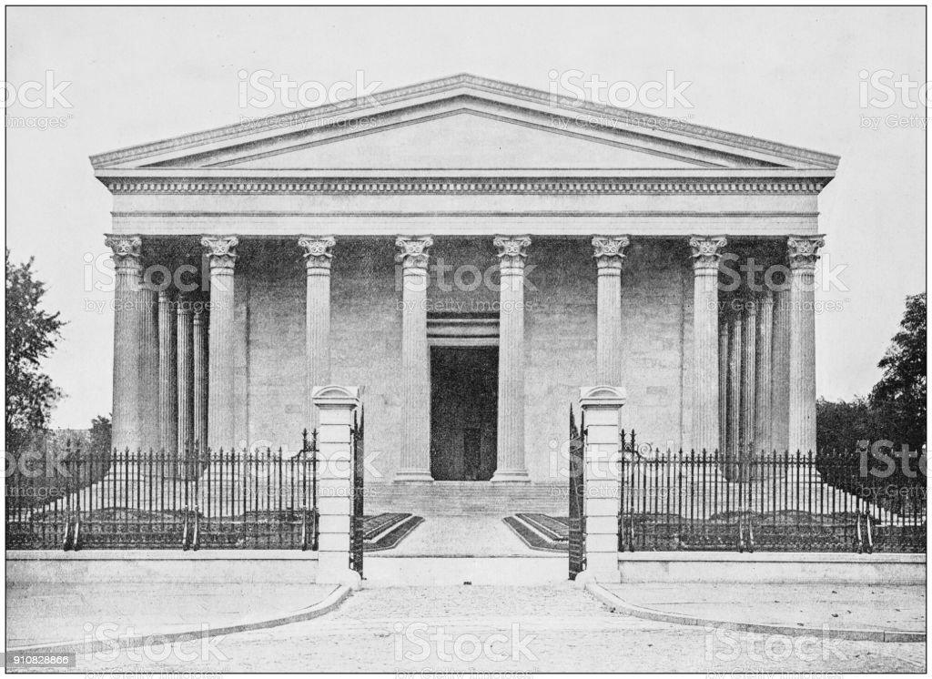 Antique photograph of World's famous sites: Girard College, Philadelphia stock photo