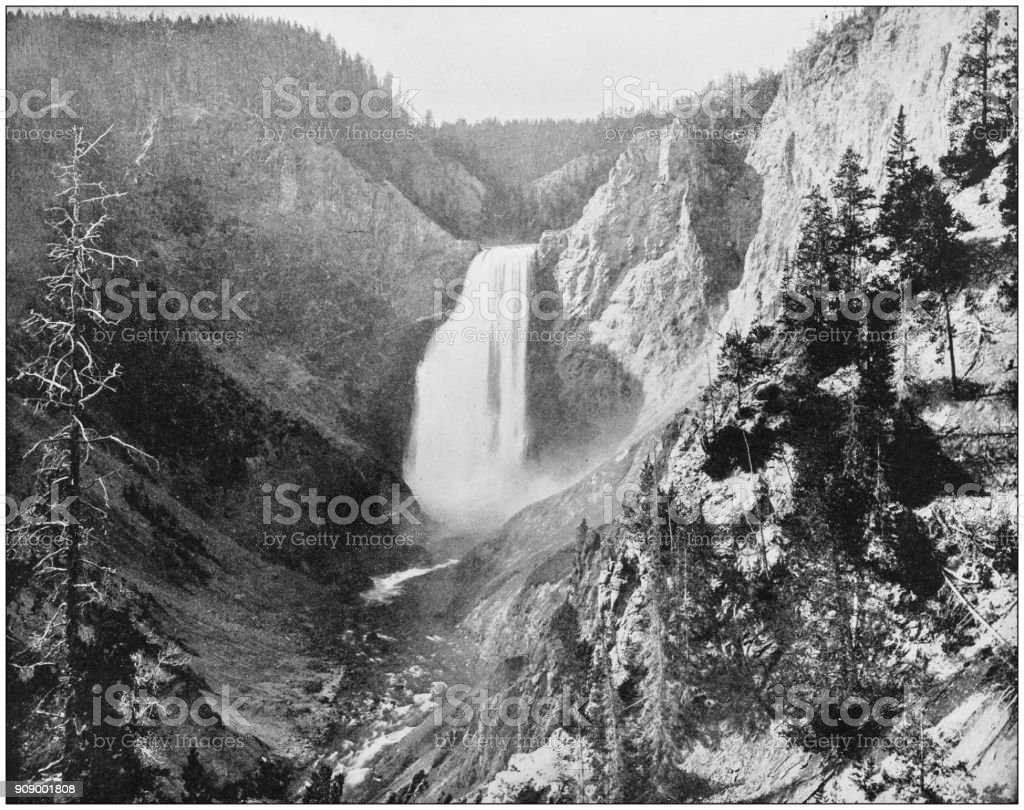 Antique photograph of World's famous sites: Great Falls, Idaho stock photo