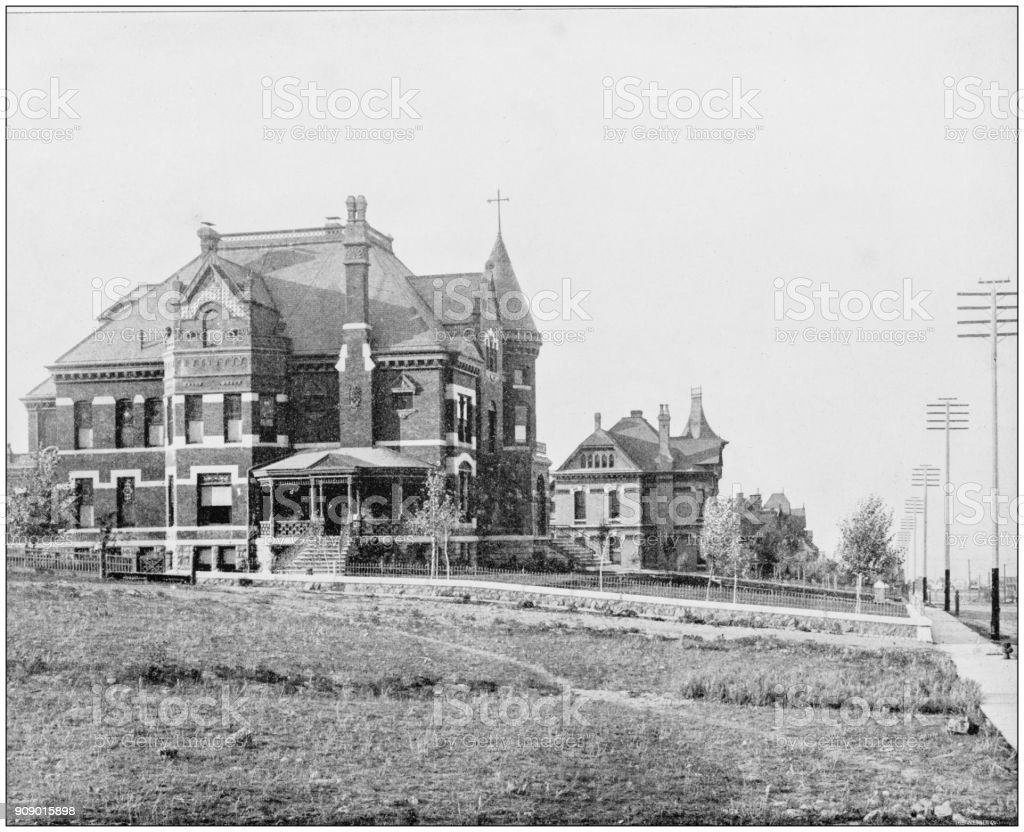 Antique photograph of World's famous sites: Helena, Montana stock photo