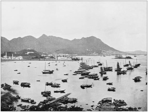 antika fotografi av världens berömda platser: hong kong - foton med hongkong bildbanksfoton och bilder