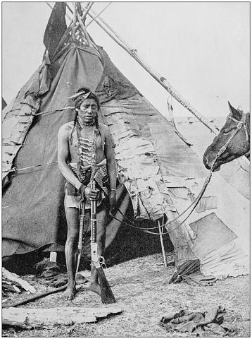 Antique photograph of World's famous sites: Indian Wigwam