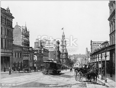 Antique photograph of World's famous sites: Melbourne