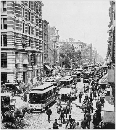Antique photograph of World's famous sites: New York Broadway