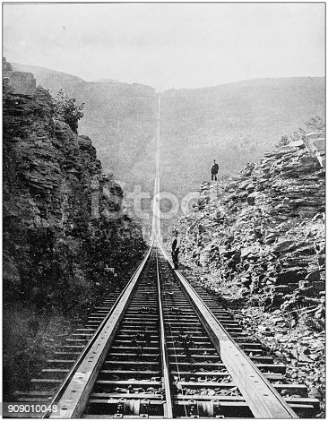 Antique photograph of World's famous sites: Otis rail road, Catskill mountains